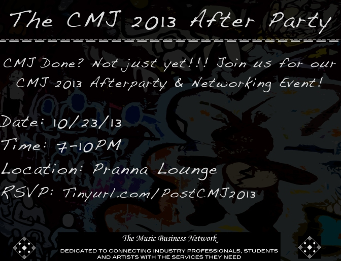 The Music Business Network's CMJ 2013 After Party